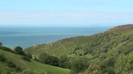 View Towards Valley of the Rocks Stock Footage