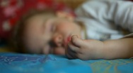 Sleeping little boy Stock Footage