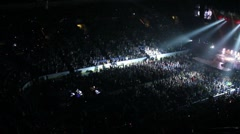 Crowded arena during a concert event. Stock Footage