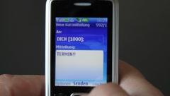"Send SMS: ""TERMIN"" Stock Footage"