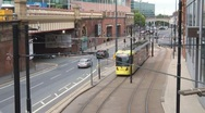 Stock Video Footage of Manchester Light Rail 2