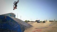 BMX BIKE slow motion BACKFLIP Stock Footage