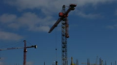 1080p time-lapse, the construction of a multistory apartment building Stock Footage