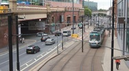 Stock Video Footage of Manchester Tram Light Rail