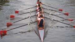 Rowing sports team - stock footage