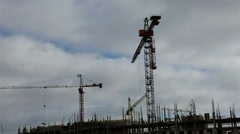 1080p time-lapse, the construction of a multistory apartment building (cloudy) Stock Footage