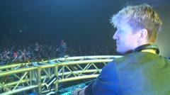 Dance Party DJ Ashley Feraude 4 Stock Footage