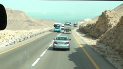 Israel, on the road to Dead Sea Stock Footage