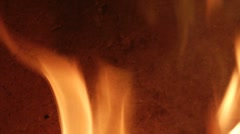 Flame burning - stock footage