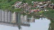 Pollution along the River Stock Footage