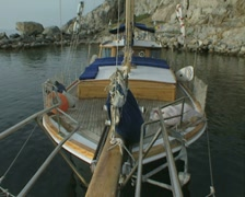 Close up of moored boat Stock Footage