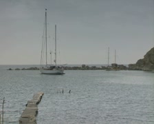 Moored gulet Stock Footage