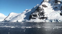 Antarctic channel Stock Footage