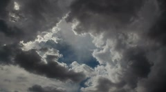 Storm Clouds Swallow Sky Stock Footage