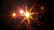 Star with Lens Flare Stock Footage