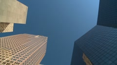 Drive plate, vertical downtown office towers, #2 Stock Footage