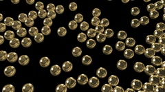Gold spheres fill the space Stock Footage