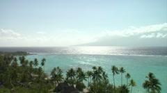 WS PAN Moorea Beach, Tahiti - stock footage