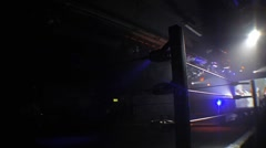 Professional Wrestling Ring & Dramatic Stage Lighting - Static HD Stock Footage