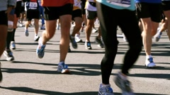 Marathon Runners HD Stock Footage