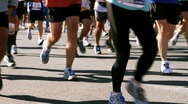 Stock Video Footage of Marathon Runners HD