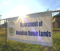 WS DHHL Fence Sign in Kapolei Stock Footage