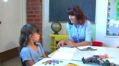 Little Girl In Family Therapy 2 Stock Footage