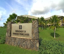 WS DHHL rock wall sign in Kapolei, Hawaii - stock footage