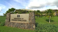 Stock Video Footage of WS DHHL rock wall sign in Kapolei, Hawaii