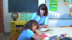 Little Girl In Family Therapy 4 Stock Footage