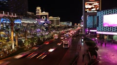 Las Vegas Strip Night Arkistovideo