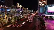 Stock Video Footage of Las Vegas Strip Night