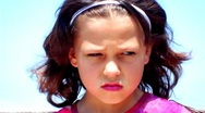 Little Girl Looking Angry And Depressed Zoom To XCU Stock Footage