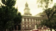 Independence Hall Philadelphia 2 Stock Footage