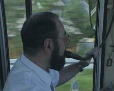 Driver and tour guide Stock Footage