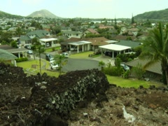 Pahua Heiau, Hawaii WS Pan - stock footage