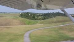 Landing a Cesna 172 Stock Footage