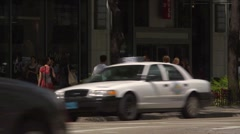 Chicago street scene, State street with traffic, GV. Stock Footage