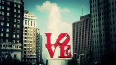 Love Park Philadelphia 3 Stock Footage