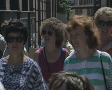 Close up of walking tourists Stock Footage