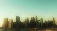 Stock Video Footage of New York City Skyline 2