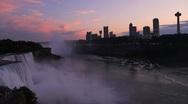 Niagara Falls Twilight Skyline Stock Footage