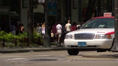 Chicago street scene, State street with traffic, GV. 2 - stock footage
