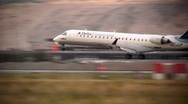 Delta Jet Landing at the Salt Lake Airport Stock Footage