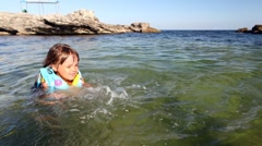 Learn to swim Stock Footage