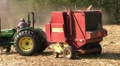 Round Baler in Action HD Footage