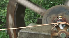 Pulley Driven from Waterwheel 2 Stock Footage