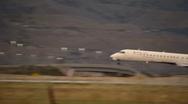 Stock Video Footage of Jet Landing in Salt Lake City Airport