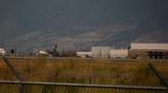 Jet Slowly Moves Across the Salt Lake Airport Runway Stock Footage