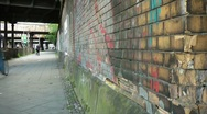 Urban decay in street Stock Footage